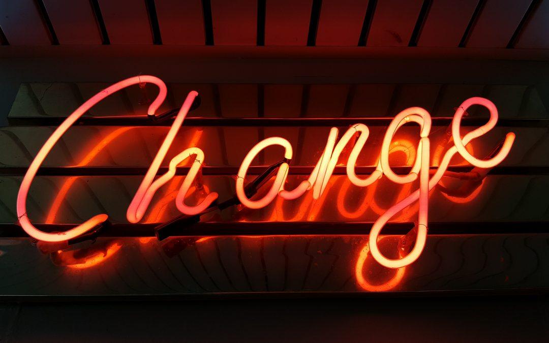 Veranderingen, ik kan er maar niet aan wennen.